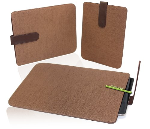 Navitech braunes Hemp Case mit zieh Slaufe für das Samsung Galaxy Tab 7.0 Plus P6200 / Samsung Galaxy Tab 2 7.0 P3100 / P3110 / Samsung Galaxy Tab 3 7.0 P3200