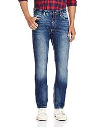 Locomotive Men's Slim Fit Jeans (15140001460347_LMJN004006_36W x 33L_Indigo)