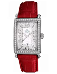 Buy Cheap Gevril Women's 7249NL.4 White Mother-of-Pearl Genuine Alligator Strap Watch Limited time