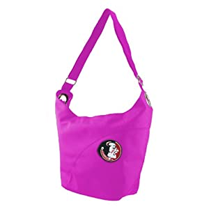 NCAA Florida State Seminoles Ladies Color Sheen Hobo Purse, Pink by Littlearth