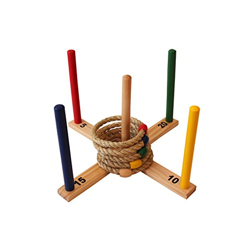 Ring Toss Set - Quoits Game for Kids & Adults - Indoor or Outdoor Game with Rope Rings - Boys & Girls Can Play This Fun Lawn Game at BBQ, Tailgating Parties (Target Gift Card $10 compare prices)