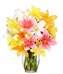 From You Flowers - Spring Lily Bouquet (FREE Vase Included)