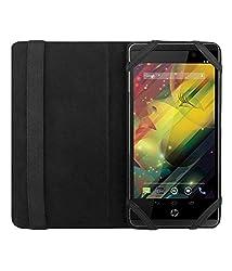 Acm Executive Leather Flip Case For Hp Slate 6 Tablet Front & Back Flap Cover Stand Holder Black