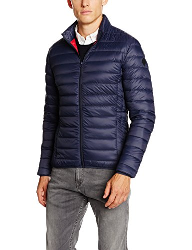Schott NYC Oakland, Impermeable Uomo, Blu ( Navy ), Large