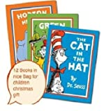 Dr. Seuss 12 books set collection in a bag(The cat in the hat,The cat in the hat comes back,Horton hears who,One fish two fish red fish blue fish,Green eggs and ham,Oh the places you'll go,There's a wocket in my pocket,The lorax,Fox in socks...)