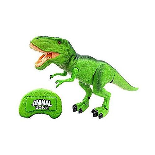 【 吠える!光る!大迫力! リアル 恐竜 ロボット ラジコン 】 赤外線 リモート コントロール メガザウルス T-Rex グリーン