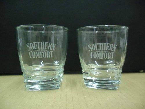 set-of-2-southern-comfort-liqueur-square-base-lowball-rocks-tumbler-glasses-by-southern-comfort-liqu