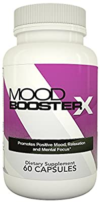 Mood Booster X - All-Natural Mood Support Formula With 5-HTP, GABA, Herbal Extracts, Vitamins, Minerals and Amino Acids - 60 Capsules