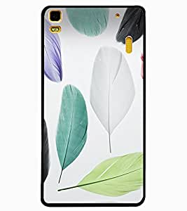 ColourCraft Colourful Feathers Design Back Case Cover for LENOVO A7000