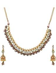 Mehek Design Gold Metal Strand Necklace Set For Women (VD125)