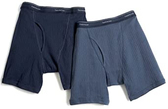 Fruit of the Loom Men's Blues Boxer Brief 2-Pack, Medium