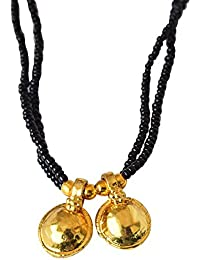 Suratdiamond Black Gold Plated Mangalsutra For Women available at Amazon for Rs.84