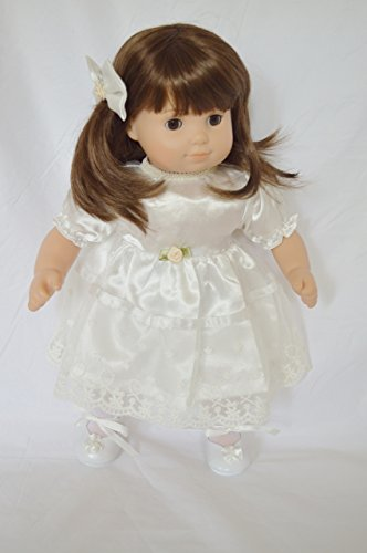 IVORY LACE SUNDAY DRESS FOR AMERICAN GIRLS BITTY TWINS GIRL