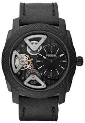 FOSSIL Machine Twist Leather Watch Black
