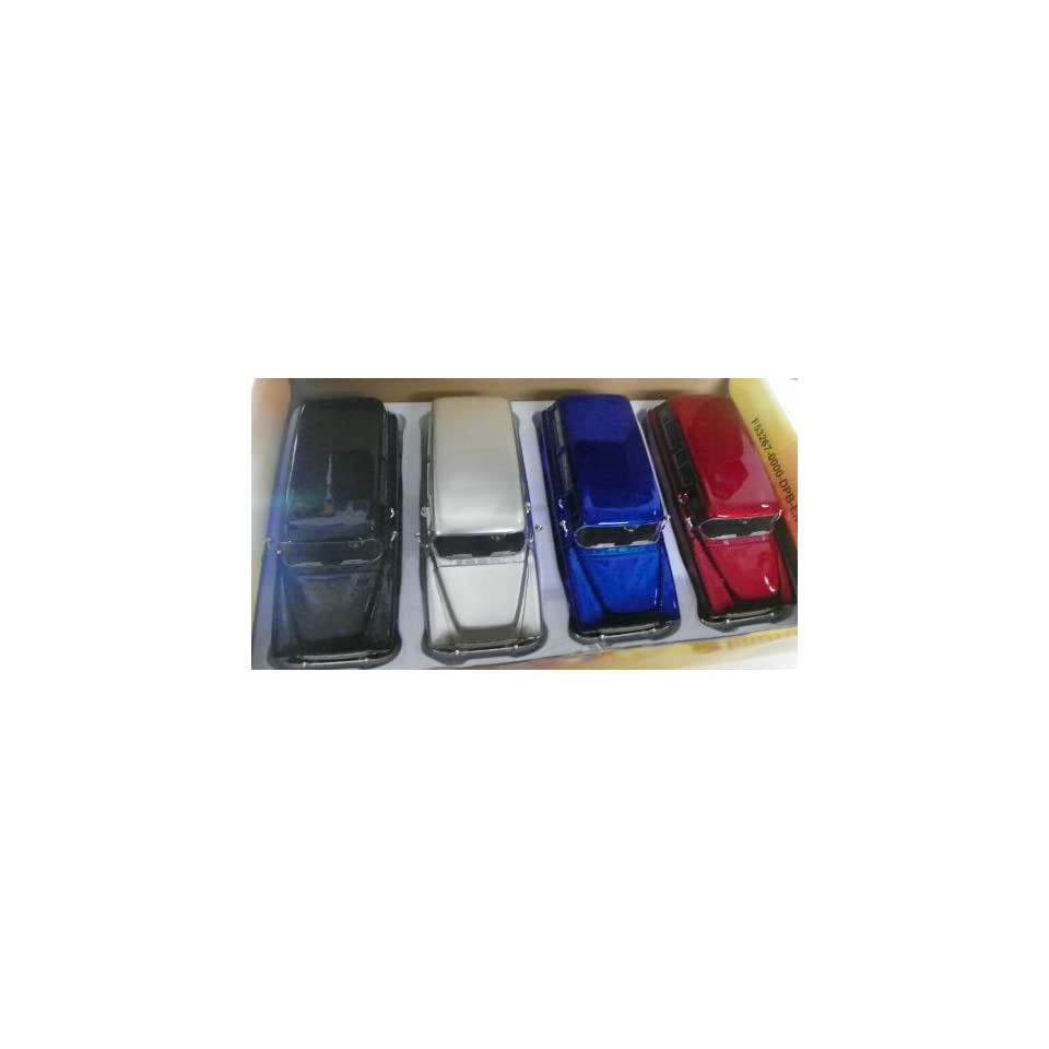 Jada Toys 1/24 Scale Diecast Big Time Kustoms 1957 Chevy Suburban Box of 4 Trucks Four Colors You Get Silver,black,blue,red
