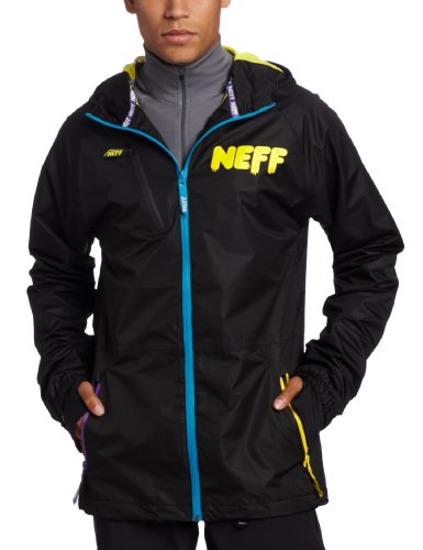 neff Men's Sno Poncho Coat, Black, XX-Large