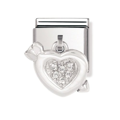 Nomination Composable Women's Bead Classic Charms 925 Silver Heart