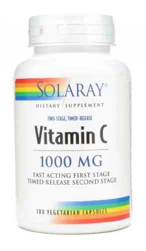 Solaray - Vitamin C Two-Stage Timed-Release 1000 Mg. - 100 Vegetarian Capsules