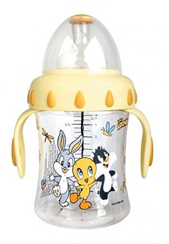 Bibi-Looney-Tunes-Baby-Weithalsflasche-mit-Griffen-und-3-2-1-Sauger