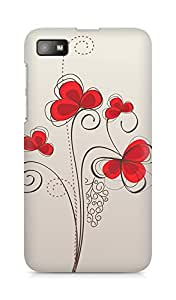 Amez designer printed 3d premium high quality back case cover for BlackBerry Z10 (Colors patterns bright)