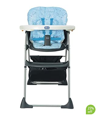 Chicco Happy Snack Highchair - Blue Scribble
