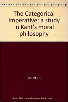 kants categorical imperative The way i was taught kant's categorical imperative is roughly as follows: kant says act as though the maxim of your actions was to become a.