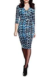 Per Una Abstract Print Bodycon Dress [T62-6637J-S]