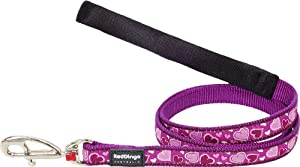 Red Dingo Designer Dog Lead, Breezy Love Purple (20mm x 1.2m)