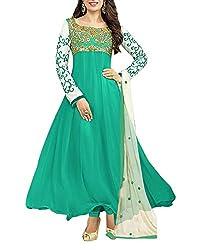 Surat Dream Women's Georgette Unstitched Dress Material(EC102, Green)