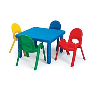 Amazoncom Kids Table and Chair Set Color Royal Blue