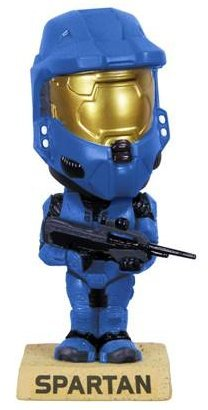 Picture of Funko Halo 3 Blue Spartan Bobble Head Figure (B001GTOR5I) (Halo Action Figures)