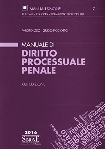 Manuale di diritto processuale penale