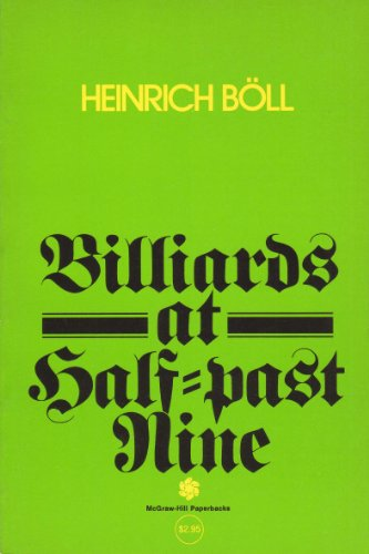 Billiards at Half Past Nine, Translated From the German, Heinrich Boll
