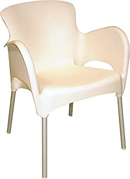 Titan Thermo Plastic Stacking Armchair - White 79cm High Back, 57cm Deep, 58cm Wide and 4cm Seat Height. (4)