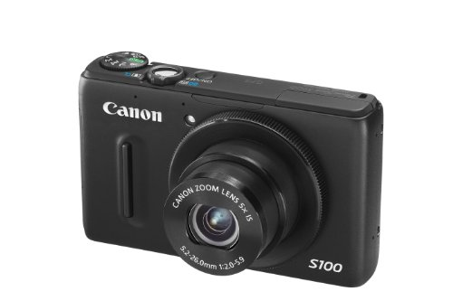 Canon PowerShot S100 Digital Camera - Black (12.1MP,