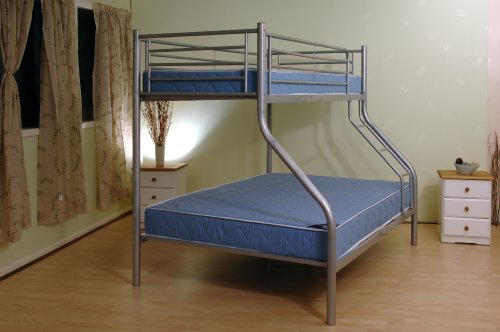 BUNK BED TWIN SLEEPER SILVER METAL