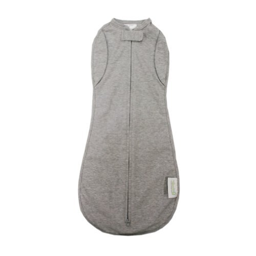 Woombie Convertible Baby Swaddler (Big Baby 14-19 Lbs, Heather Gray) front-816175