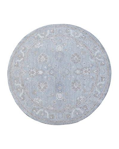 Kalaty One-of-a-Kind Pak Round Rug, Grey, 6′ 2″ x 6′