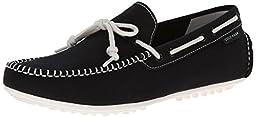 Cole Haan Men\'s Grant LTE Slip-On Loafer, Black Fabric/White, 10.5 M US