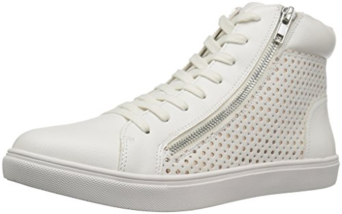 Steve Madden Women's Elyka Fashion Sneaker, White/Multi, 9 M US