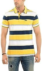 Lead & Ride Men's Polo Neck T-Shirt (311 yellow_xx-large, Yellow, XX-Large)
