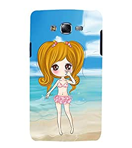 Vizagbeats Animated Girl Beach Background Back Case Cover for Samsung Galaxy A7