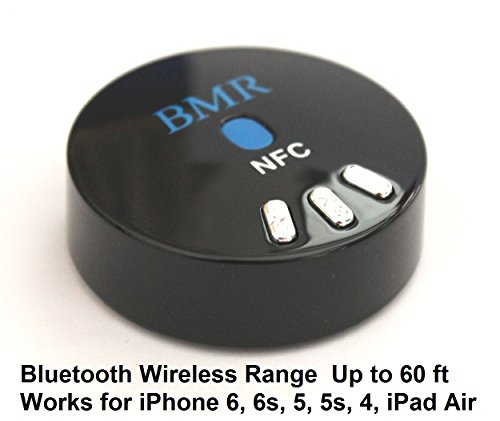 BMR NFC Enabled Bluetooth Music Receiver Extra Long Wireless Range for Speakers or Car Stereo with 3.5mm Aux or RL Audio Input (Up to 60 ft Range) (Long Range Wireless Speakers compare prices)