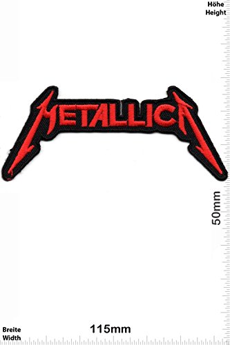 Patch - Metallica - red - small - MusicPatch - Rock - Chaleco - toppa - applicazione - Ricamato termo-adesivo - Give Away