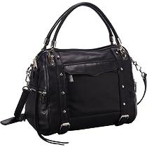 Hot Sale Rebecca Minkoff Cupid H422E001 Shoulder Bag,Black,One Size