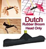 "Dutch Rubber Broom 12"" Head- 12 inches Rubber Broom Head Only"