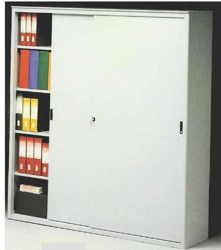 IDEA Metal Cabinets for Office Metallic Sliding Doors Wardrobe cm. 150 LUNGH. X 45 Prof. X 200 H
