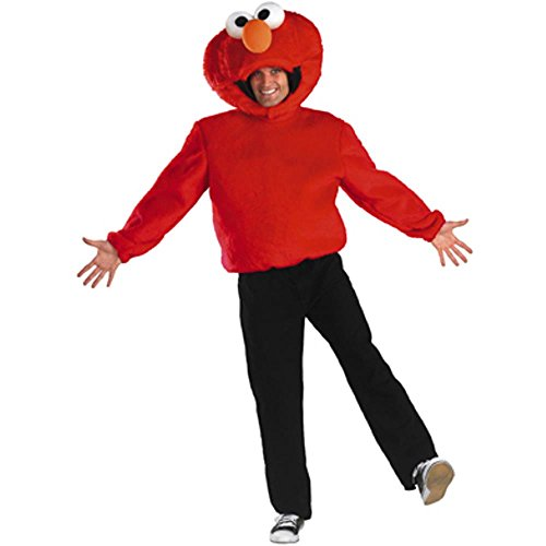 Adult Sesame Street Elmo Halloween Costume (Size: Large 42-46)