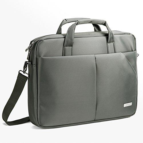 """17.3"""" Custodia Laptop, Evecase Professionale Universale Messenger Borsa con Tracolla per PC, Computer Portatile, Chromebook fino alle 17.3 pollici - Grigio"""