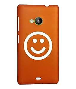 KolorEdge Back Cover For Microsoft Lumia 535 - Orange (2309-Ke15097Lumia535Orange3D)